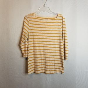 Time and Tru Womens Scoop Neck T-Shirt Striped